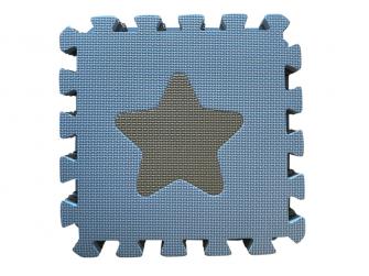 Pěnová hrací podložka puzzle Geometrické tvary, Blue 90x90 cm 2