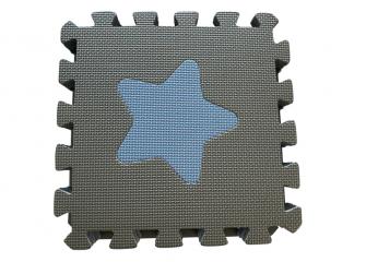Pěnová hrací podložka puzzle Geometrické tvary, Blue 90x90 cm 4