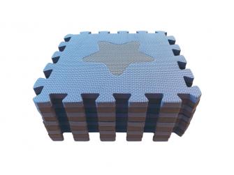 Pěnová hrací podložka puzzle Geometrické tvary, Blue 90x90 cm 5