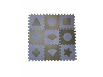 Pěnová hrací podložka puzzle Geometrické tvary, Blue 90x90 cm 7