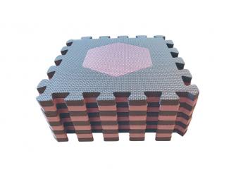 Pěnová hrací podložka puzzle Geometrické tvary, Rose 90x90 cm 10