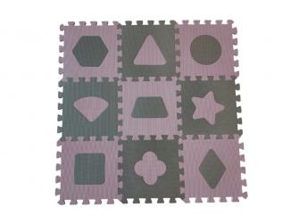 Pěnová hrací podložka puzzle Geometrické tvary, Rose 90x90 cm 2