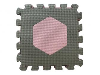 Pěnová hrací podložka puzzle Geometrické tvary, Rose 90x90 cm 3