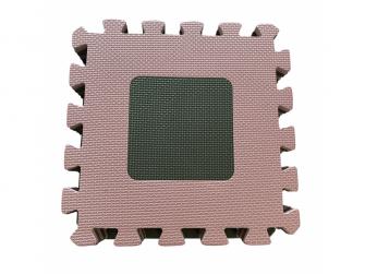 Pěnová hrací podložka puzzle Geometrické tvary, Rose 90x90 cm 4