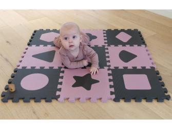 Pěnová hrací podložka puzzle Geometrické tvary, Rose 90x90 cm 6