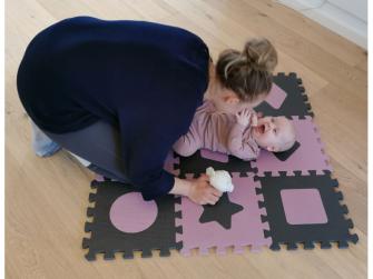 Pěnová hrací podložka puzzle Geometrické tvary, Rose 90x90 cm 7