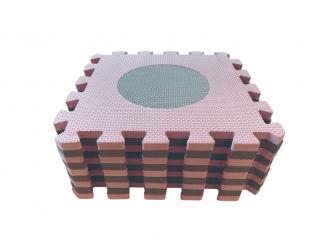 Pěnová hrací podložka puzzle Geometrické tvary, Rose 90x90 cm 9