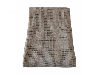 Dětská háčkovaná bavlněná deka Babydan Grey,75x100cm 4