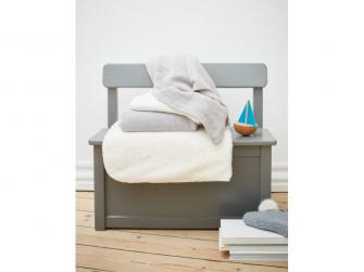 Dětská háčkovaná bavlněná deka Babydan Grey,75x100cm 5
