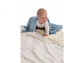 Dětská háčkovaná bavlněná deka Babydan Dusty Blue,75x100cm 6
