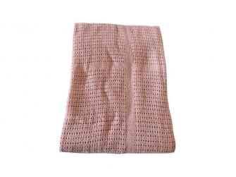 Dětská háčkovaná bavlněná deka Babydan Dusty Rose,75x100cm 4