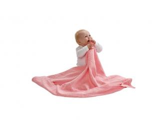 Dětská háčkovaná bavlněná deka Babydan Dusty Rose,75x100cm 6