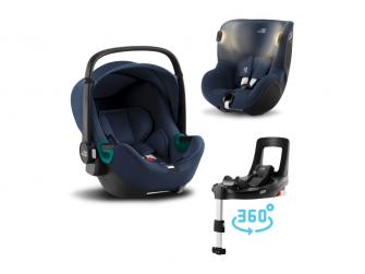 Set autosedačka Baby-Safe 3 i-Size+Flex Base iSense+Autosedačka Dualfix iSense, Indigo Blue