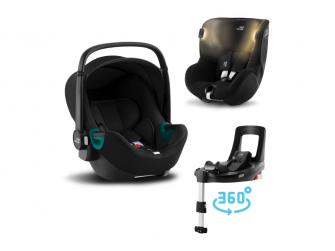 Set autosedačka Baby-Safe 3 i-Size+Flex Base iSense+Autosedačka Dualfix iSense, Space Black