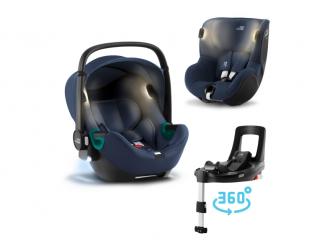 Set autosedačka Baby-Safe iSense+Flex Base iSense+autosedačka Dualfix iSense, Indigo Blue