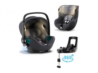 Set autosedačka Baby-Safe iSense+Flex Base iSense+autosedačka Dualfix iSense, Midnight Grey