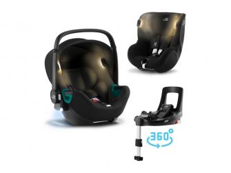 Set autosedačka Baby-Safe iSense+Flex Base iSense+autosedačka Dualfix iSense, Space Black