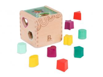 Kostka dřevěná s vkládacími tvary Wonder Cube 2