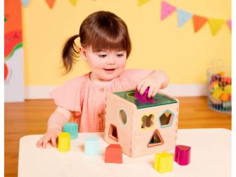Kostka dřevěná s vkládacími tvary Wonder Cube 4