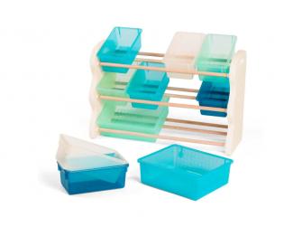 Organizér na hračky s ukládacími boxy 2
