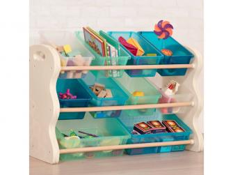 Organizér na hračky s ukládacími boxy 5