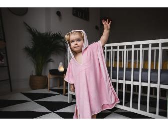 Osuška pončo s kapucí 2-4 roky Penny Pink 3