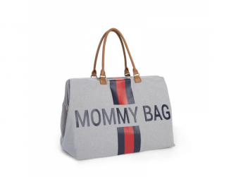 Přebalovací taška Mommy Bag Grey Stripes Red/Blue 2