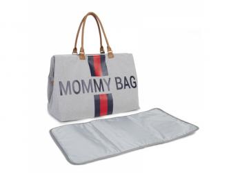 Přebalovací taška Mommy Bag Grey Stripes Red/Blue 3