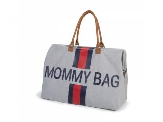 Přebalovací taška Mommy Bag Grey Stripes Red/Blue 4
