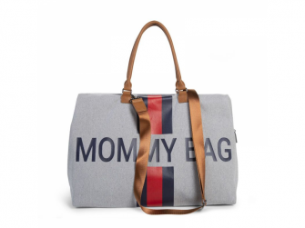 Přebalovací taška Mommy Bag Grey Stripes Red/Blue 5