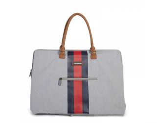 Přebalovací taška Mommy Bag Grey Stripes Red/Blue 6