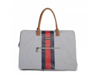 Přebalovací taška Mommy Bag Grey Stripes Red/Blue 6