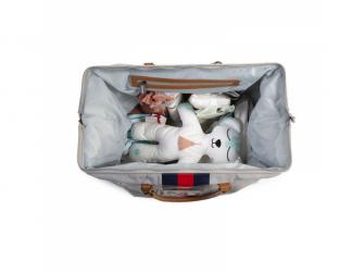 Přebalovací taška Mommy Bag Grey Stripes Red/Blue 7