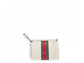 Pouzdro na zip s poutkem Off White Stripes Green/Red 4