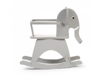 Houpací slon dřevěný Grey 2
