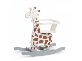 Houpací žirafa dřevěná
