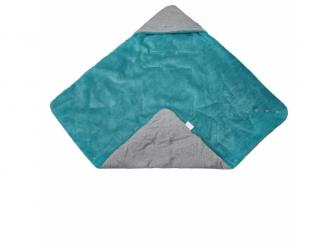 Zavinovačka multifunkční MAZLÍK Outlast®78x78cmšedá/mentolová 2