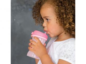 Dětský hrneček s brčkem pink, 250 ml 3
