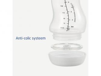 Kojenecká S-lahvička . antikolik, bílá, 170ml 4
