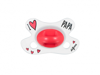 Dudlík Natural I LOVE PAPA, novorozenecký