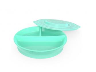 Dělený talíř 6+m Pastelově zelená