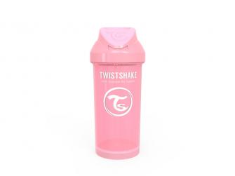 Láhev s brčkem 360 ml 6+m Pastelově růžová