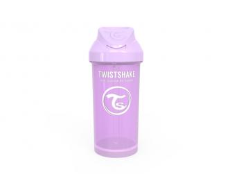 Láhev s brčkem 360 ml 6+m Pastelově fialová