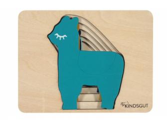 Dřevěné puzzle lama