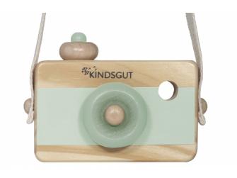 Dřevěný fotoaparát mintový