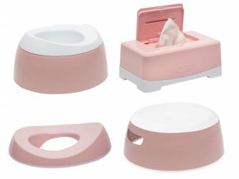 Tréningová sada na toaletu Cloud Pink