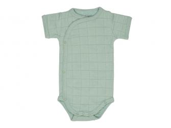 Romper Solid Short Sleeves Silt Green vel. 80
