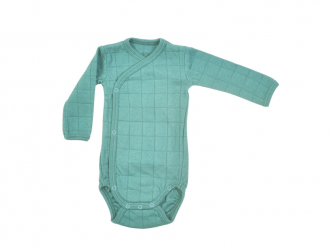 Romper Solid Long Sleeves Dusty Turquoise vel. 62
