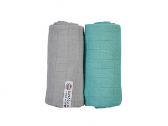 Swaddler Solid 2balení Mist/Dusty Turquoise