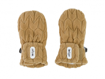 Mittens Empire Fleece Dark Honey 6 - 12 měsíců